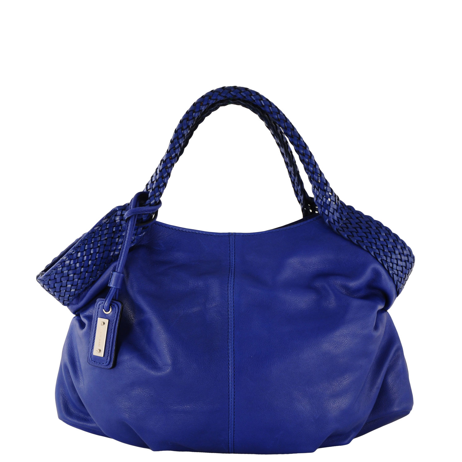 Italian Leather Handbag Paola 5197, Blue