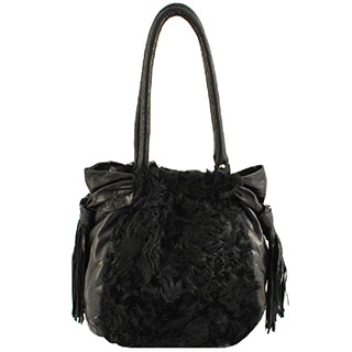 Leather and Sheepskin Shoulderbag